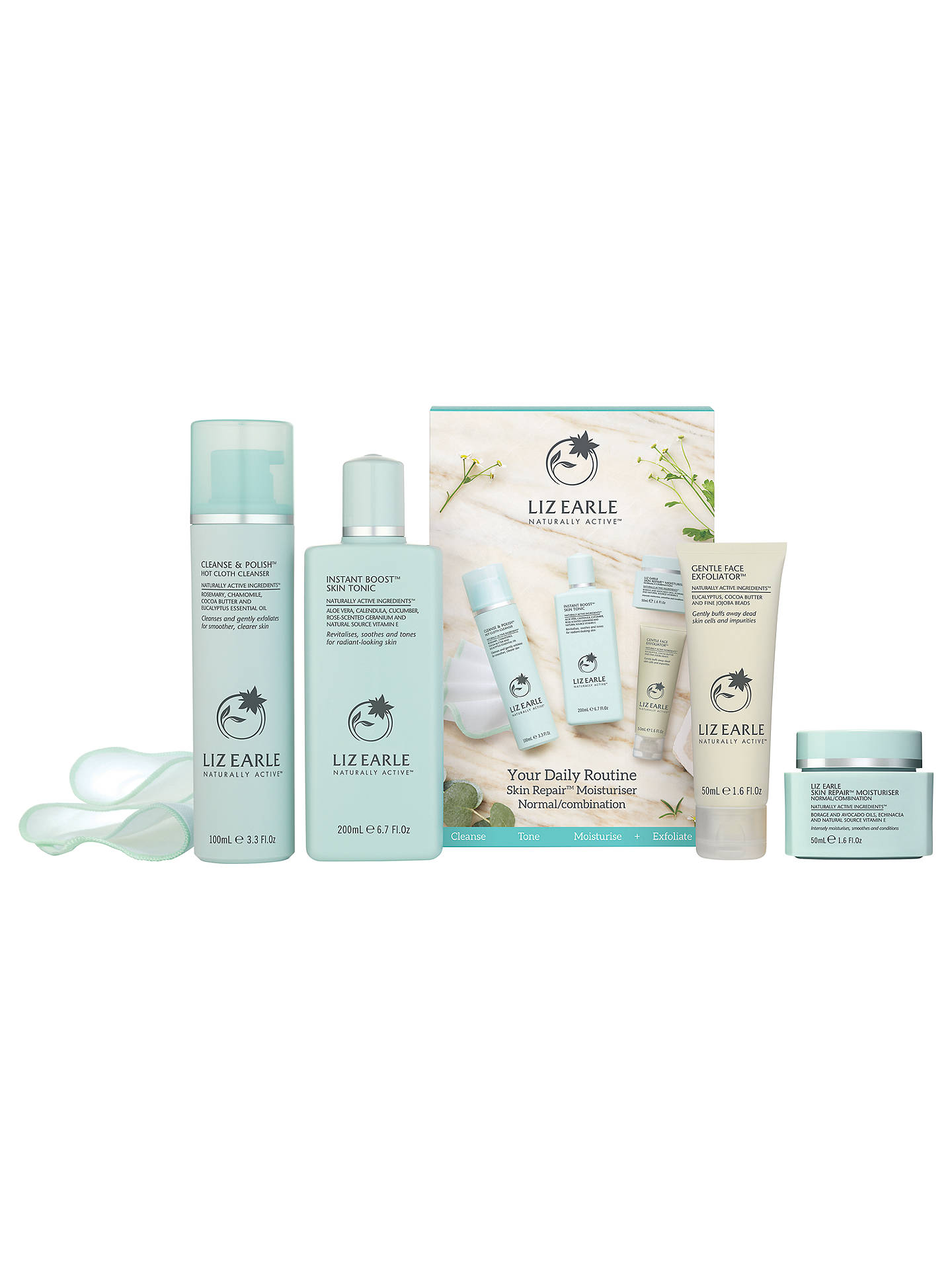 BuyLiz Earle Essentials Kit, Skin Repair Moisturiser™ - Normal/Combination Online at johnlewis.com