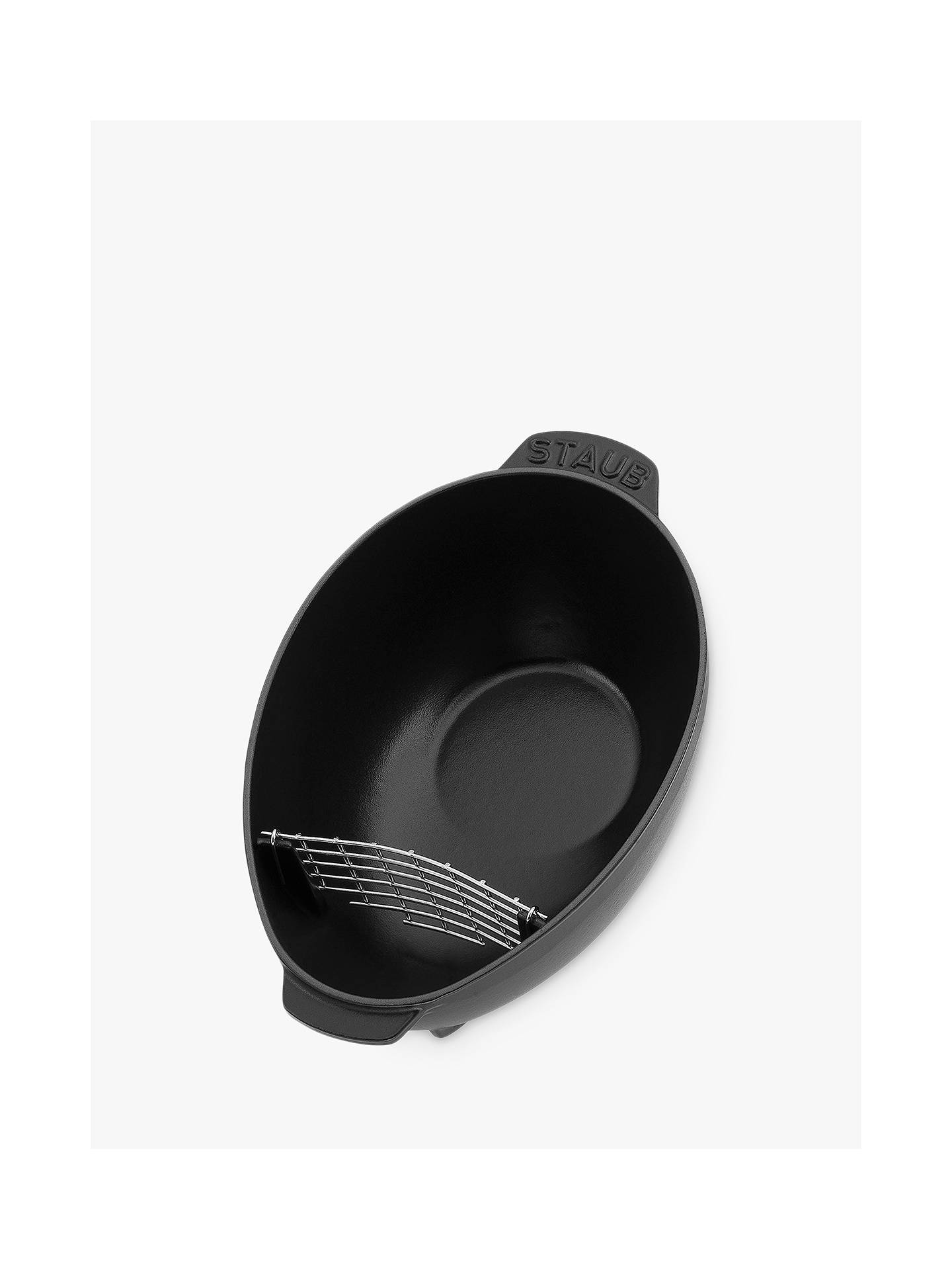 Buy STAUB Cast Iron Mussel Pot, 25cm, Black Online at johnlewis.com