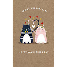 Buy Art File You Are Purfect Cats Valentine's Day Card Online at johnlewis.com