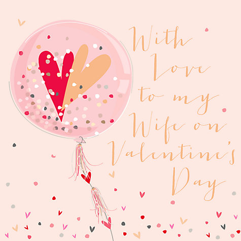 buy belly button designs love to my wife valentines day card online at johnlewiscom