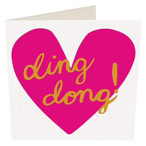 buy caroline gardner ding dong valentines day card online at johnlewis - Online Valentines Day Cards