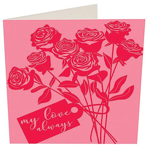 buy caroline gardner my love always valentines day card online at johnlewis