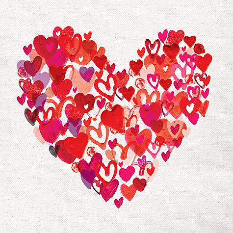 buy paper rose heart of hearts valentines day card online at johnlewis