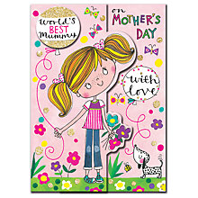 Buy Rachel Ellen World's Best Mummy Mother's Day Card Online at johnlewis.com