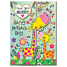 Buy Rachel Ellen Giraffes Mother's Day Card Online at johnlewis.com