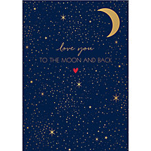 Buy Art File To The Moon & Back Valentine's Day Card Online at johnlewis.com