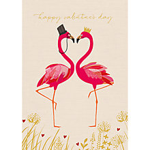Buy Art File Flamingos Valentine's Day Card Online at johnlewis.com