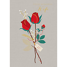 Buy Art File Wonderful Wife Valentines Day Card Online at johnlewis.com