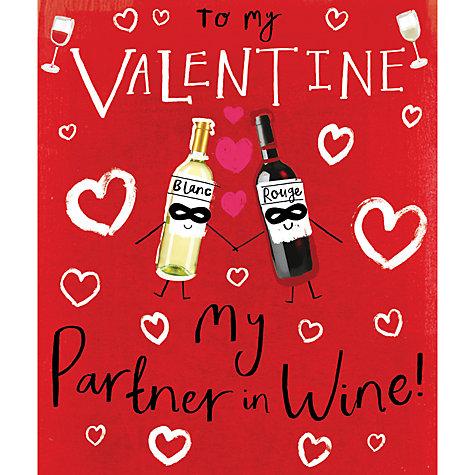 buy cardmix partner in wine valentines day card online at johnlewis - Online Valentines Day Cards