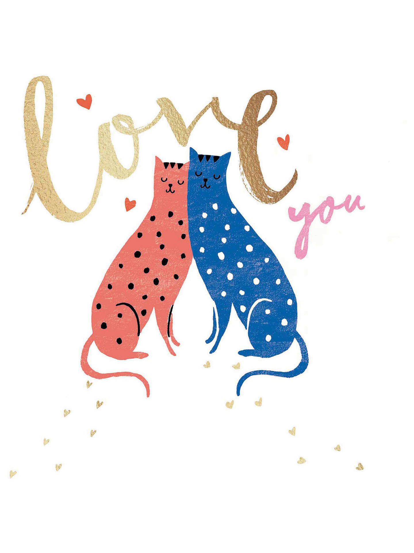BuyWoodmansterne Purrfect Together Valentine's Day Card Online at johnlewis.com