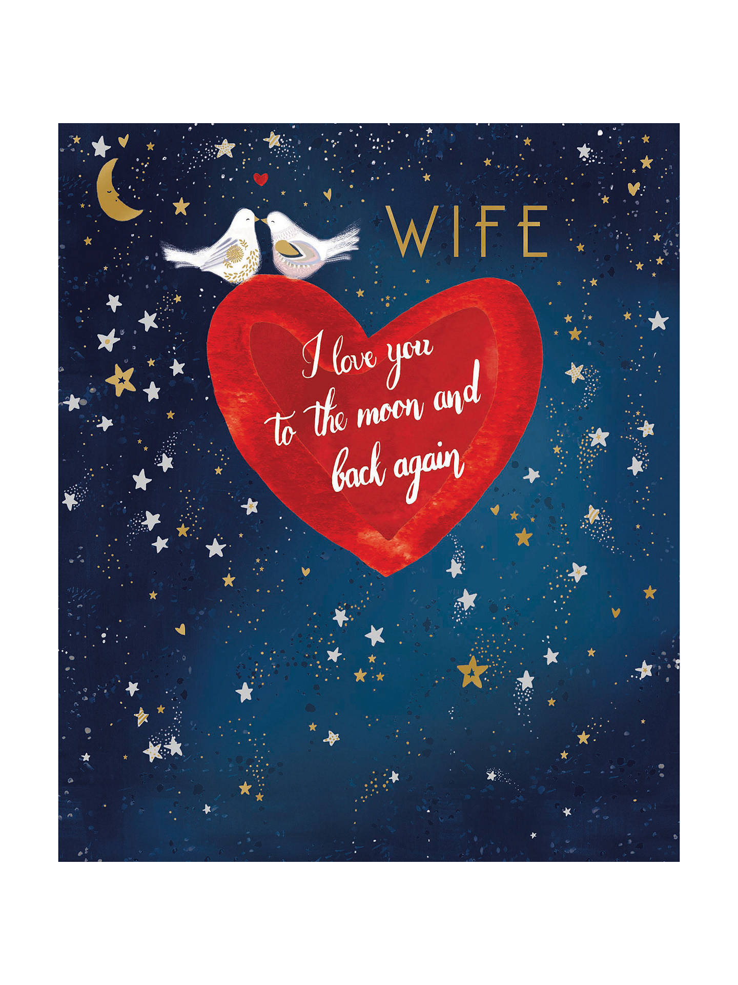 BuyWoodmansterne Moon And Back Valentines Day Card Online At Johnlewis