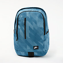 Buy Nike All Access Soleday Backpack, Blue/Black Online at johnlewis.com