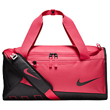 Buy Nike Children's Alpha Training Duffel Bag, Pink/Black Online at johnlewis.com