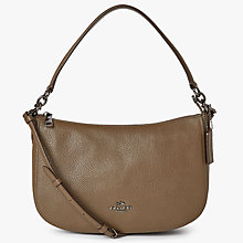 Buy Coach Chelsea Polished Pebble Leather Cross Body Bag, Grey Online at johnlewis.com