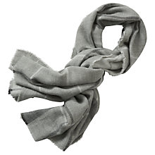 Buy Betty & Co. Long Check Scarf, Stone/Silver Online at johnlewis.com