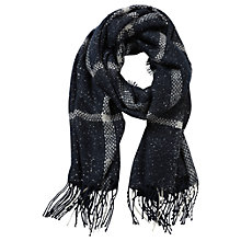 Buy Betty & Co. Long Check Scarf, Dark Blue/Cream Online at johnlewis.com