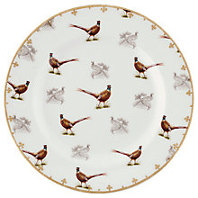 Buy Spode Glen Lodge Pheasant Side Plate, White/Multi, Dia.20cm Online at johnlewis.com