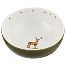 Buy Spode Glen Lodge Stag Small Bowl, White/Multi, Dia.14cm Online at johnlewis.com