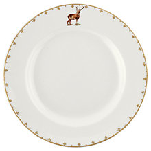 Buy Spode Glen Lodge Stag Dinner Plate, White/Multi, Dia.27cm Online at johnlewis.com