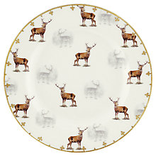 Buy Spode Glen Lodge Stag Side Plate, White/Multi, Dia.27cm Online at johnlewis.com