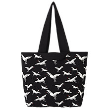 Buy Whistles Crane Knitted Bag, Black Online at johnlewis.com