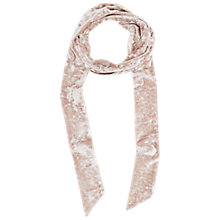 Buy French Connection Velvet Skinny Scarf, Cinder Rose Online at johnlewis.com