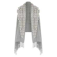 Buy Coast Nadia Pom Pom Shawl, Grey Online at johnlewis.com
