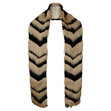 Buy Hobbs Gabriella Faux Fur Scarf, Natural/Black Online at johnlewis.com