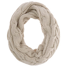Buy Mint Velvet Chunky Cable Knit Snood, Oatmeal Online at johnlewis.com