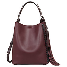 Buy AllSaints Kepi Leather Shoulder Bag Online at johnlewis.com