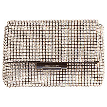 Buy Karen Millen Diamante Clutch Bag, Silver Online at johnlewis.com