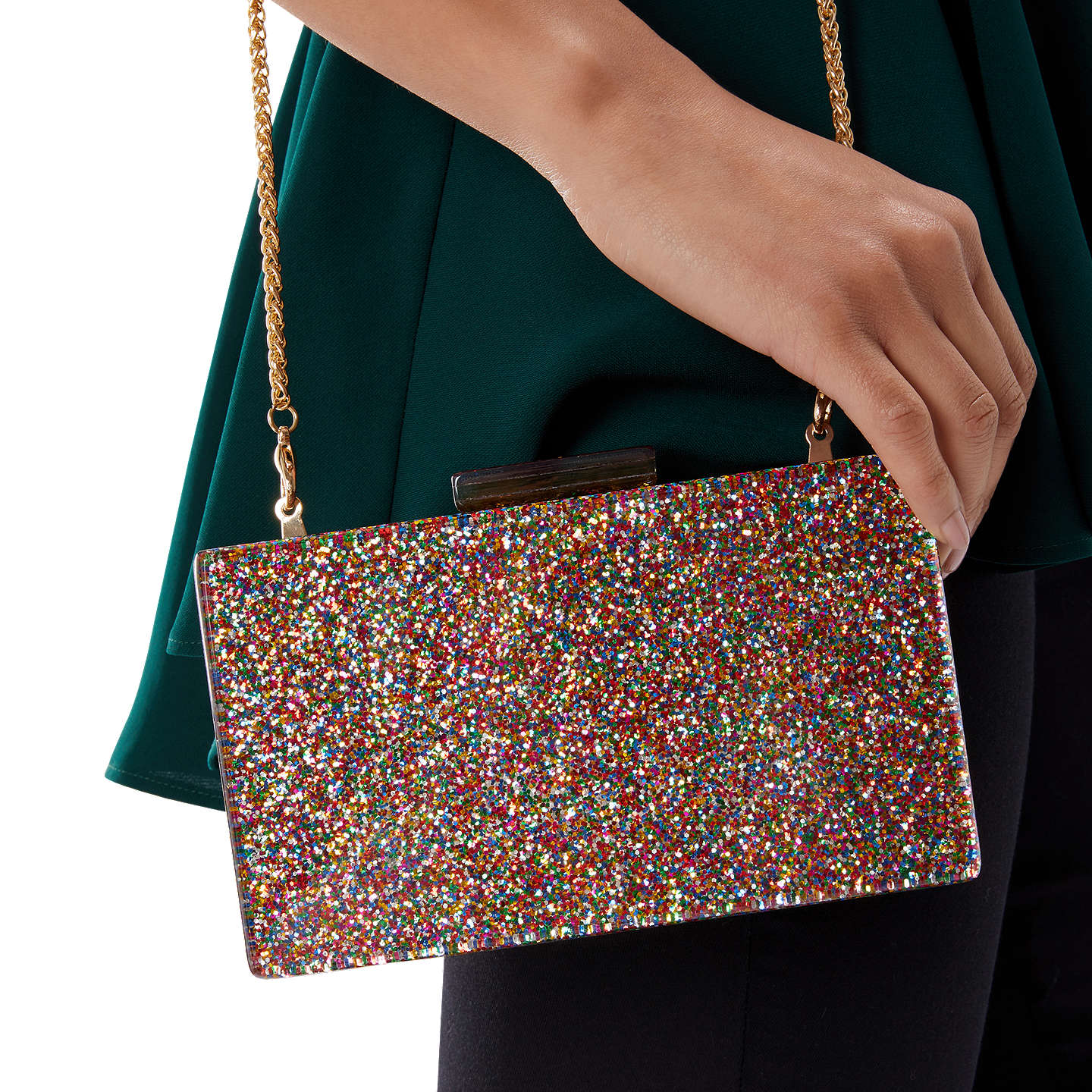 BuyCoast Leola Perspex Clutch Bag, Multi Online at johnlewis.com