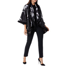 Buy Coast Charlotte Faux Fur Jacquard Cape, Multi Online at johnlewis.com