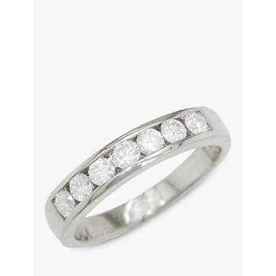 E.W Adams 18ct White Gold Diamond Eternity Ring