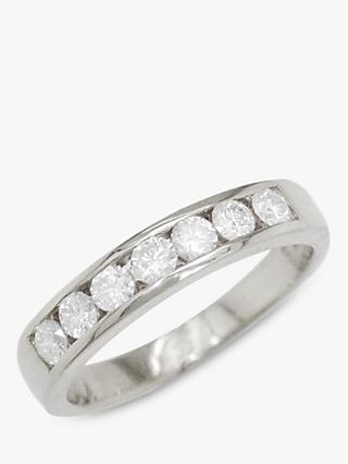E.W Adams 18ct White Gold Diamond Eternity Ring
