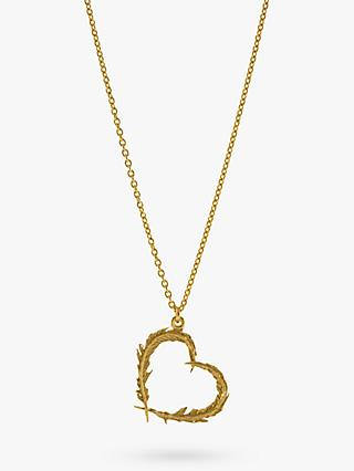 Alex Monroe Feather Heart 22ct Gold Necklace, Gold