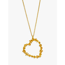 Buy Alex Monroe 22ct Gold Plated Sterling Silver Floral Heart Pendant Necklace, Gold Online at johnlewis.com
