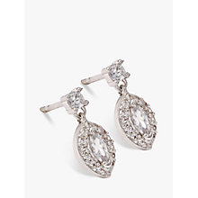 Buy Ivory & Co. Parisian Oval Cubic Zirconia Earrings, Silver Online at johnlewis.com