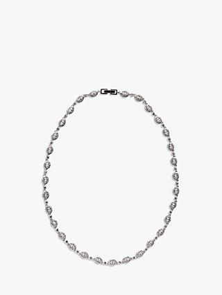 Ivory & Co. Parisian Oval Cubic Zirconia Necklace, Silver
