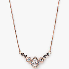 Buy Ivory & Co. Charleston Cubic Zirconia Pendant Necklace, Rose Gold Online at johnlewis.com