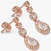 Buy Ivory & Co. Charleston Cubic Zirconia Drop Earrings, Rose Gold Online at johnlewis.com