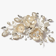 Buy Ivory & Co. Freshwater Pearl Leaf Hair Clip, Silver Online at johnlewis.com