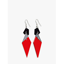 Buy Toolally Abstract Diamond Shaped Drop Earrings Online at johnlewis.com