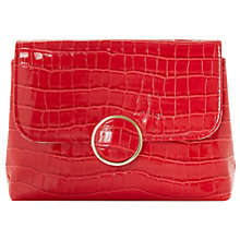 Buy Dune Bayer Clutch Bag, Red Online at johnlewis.com