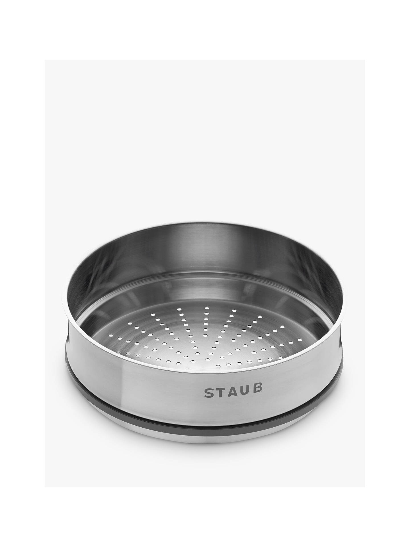 Buy STAUB Cocotte Stainless Steel Steamer Insert, Dia.26cm, Silver Online at johnlewis.com