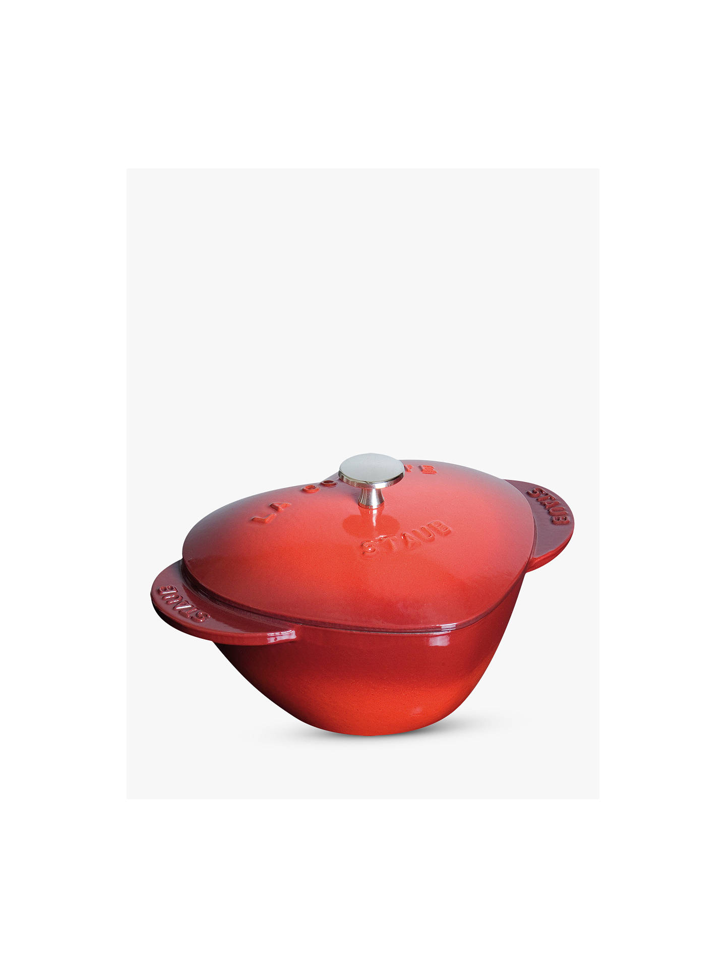 BuySTAUB Heart Cocotte Cast Iron Casserole, 20cm, Cherry Online at johnlewis.com