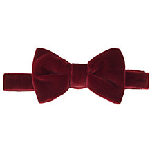 Buy HUGO by Hugo Boss Velvet Bow Tie, Dark Red Online at johnlewis.com