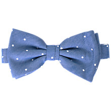 Buy John Lewis Chambray White Dot Ready Tied Bow Tie, Blue Online at johnlewis.com