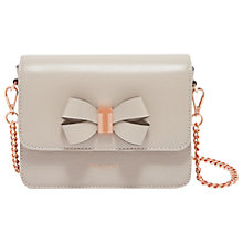 Buy Ted Baker Calliih Leather Cross Body Bag, Taupe Online at johnlewis.com
