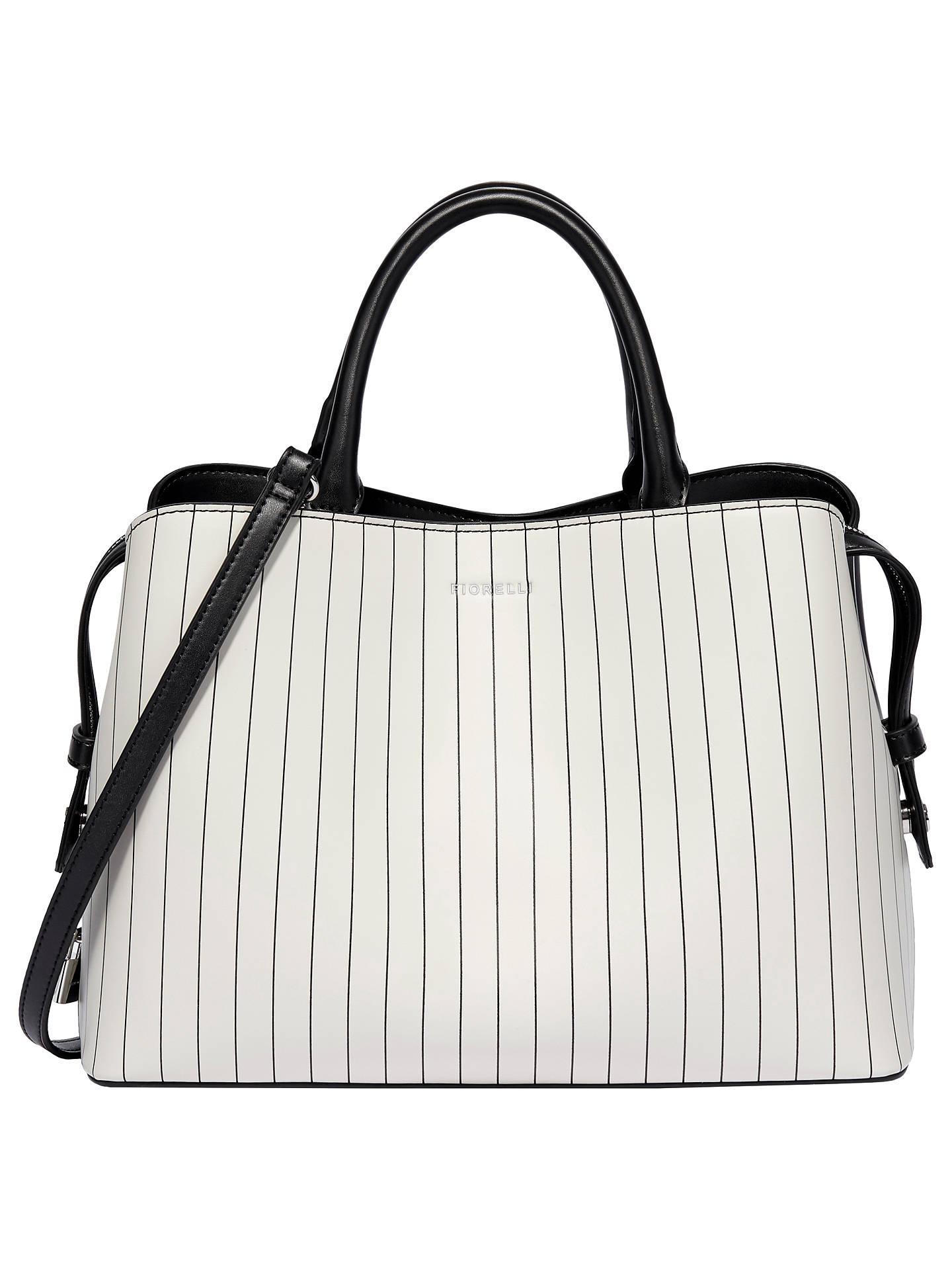 Fiorelli Bethnal Triple Compartment Grab Bag Whitestripe Online At Johnlewis